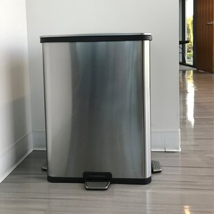 TapCan Deluxe Stainless Steel 13 Gallon Motion Sensor Trash Can