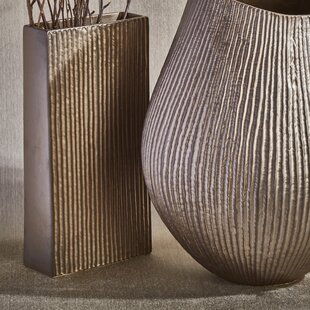 Parise Ceramic Ribbed Box Table Vase