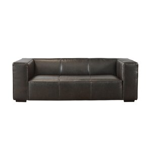 Denis Leather Sofa by Latitude Run