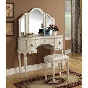 Canora Grey Epworth Vanity Set with Mirror