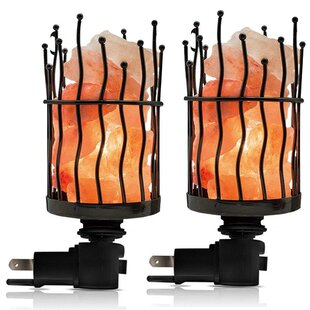 Savings Himalayan Glow Natural Salt Pillar Night Light (Set of 4) By WBM LLC