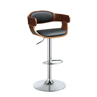 Gordan Adjustable Height Swivel Bar Stool by George Oliver