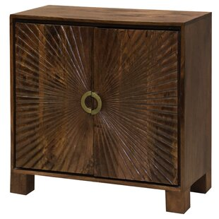 Destin Starburst Embossed 2 Door Accent Cabinet by Bloomsbury Market