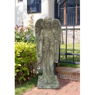 Astoria Grand Riel Angel Standing Holding Flowers Statue