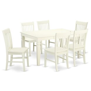 Beachcrest Home Pennington Traditional 7 Piece Dining Set