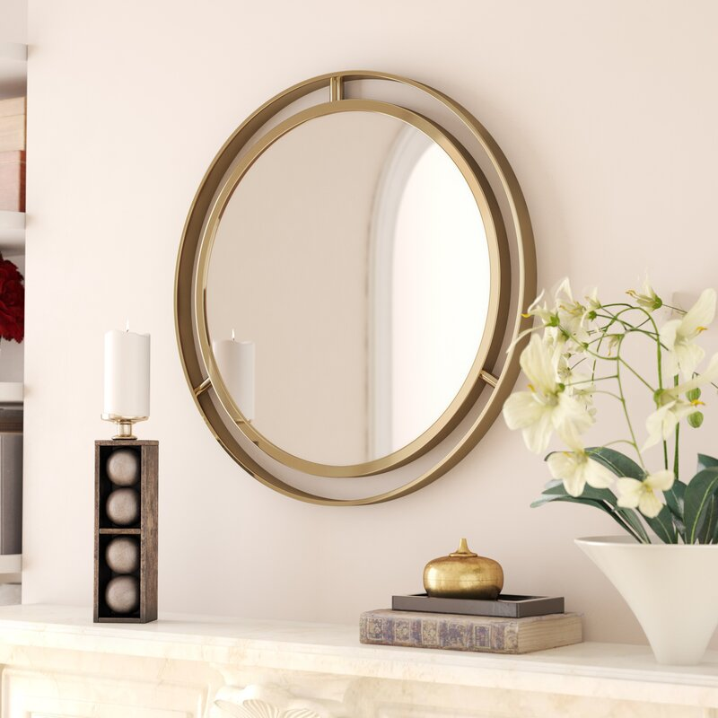 Mercer41 Terwilliger Round Wall Mirror Reviews Wayfair Ca