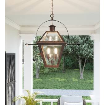Lenville Bronze 8 Bulb 27 63 H Outdoor Chandelier Reviews Birch Lane