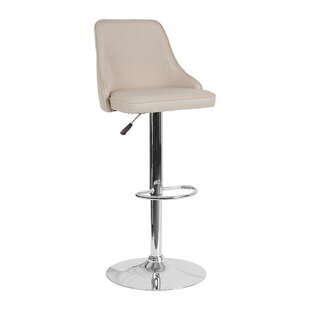 Threatt Adjustable Height Swivel Bar Stool by Orren Ellis