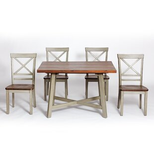 Anniston Farmhouse 5 Piece Dining Set