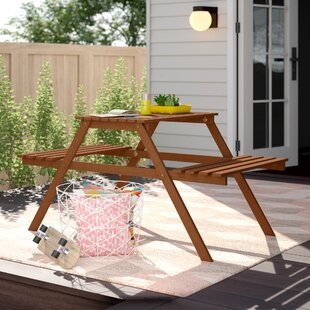 Arianna Kids 2 Piece Rectangular Picnic Table by Langley Street
