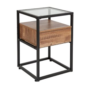 Elzira End Table with Storage by Union Rustic
