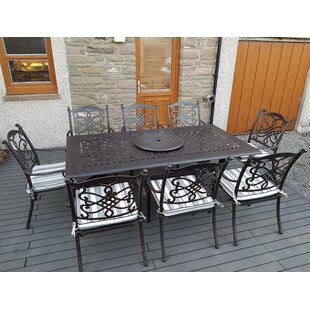 Canouan 8 Seater Dining Set With Cushions By Rosalind Wheeler