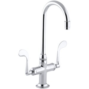 Kohler Essex Single-Hole Bar Sink Faucet with Wristblade Handles