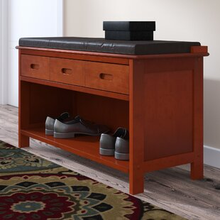 Alcott Hill Adriana Wood Storage Bench