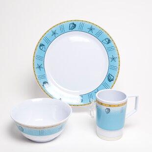 Decorated Offshore Melamine 18 Piece Dinnerware Set, Service for 6