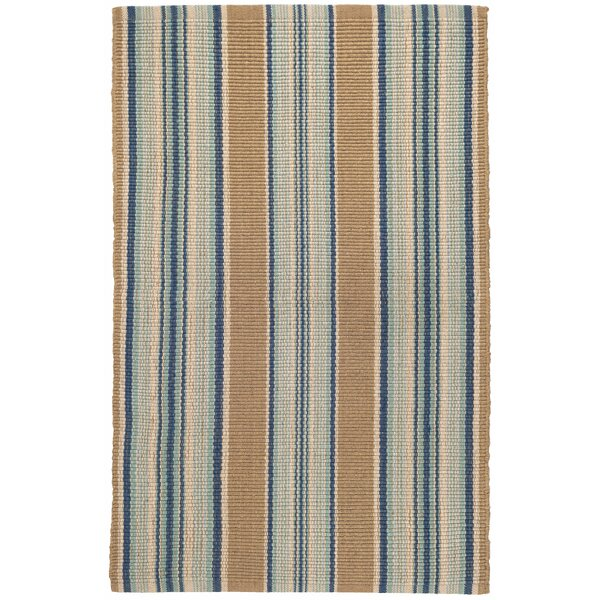 Dash And Albert Rugs Blue Heron Stripe Flatweave Brown Blue Area Rug Reviews Wayfair