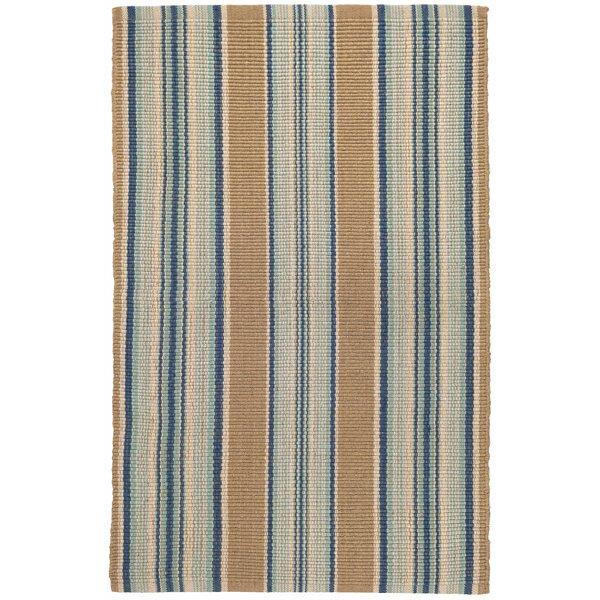 Dash And Albert Rugs Striped Handwoven Cotton Blue Beige Brown Area Rug Reviews Wayfair
