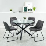 Barbra Contemporary 5 Piece Dining Set by Wrought Studio™