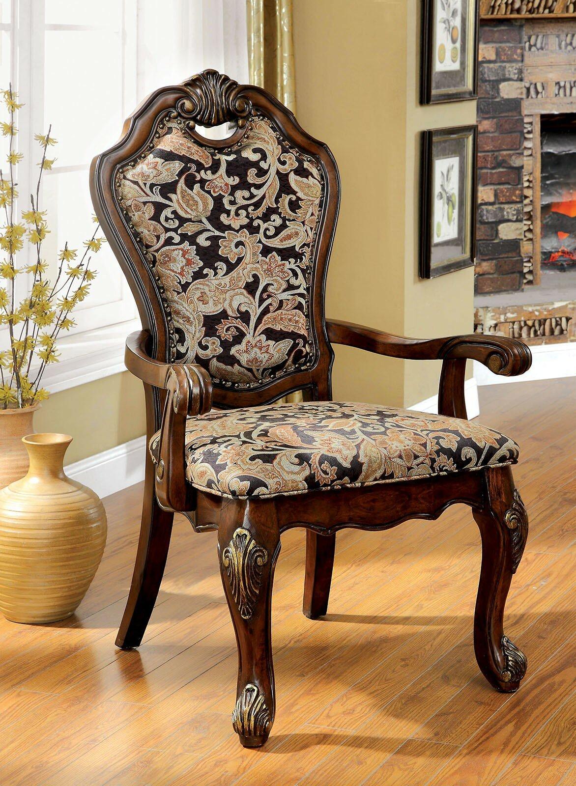 Pleasing Dufault Upholstered Dining Arm Chair Short Links Chair Design For Home Short Linksinfo