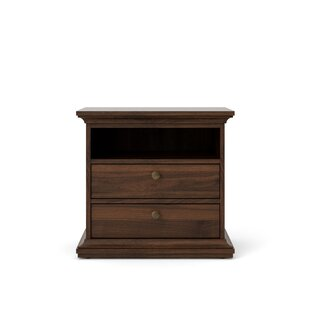 Goebel 2 Drawer Nightstand