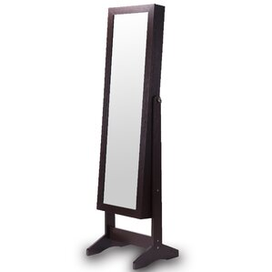 mirror armoire. wooden jewelry armoire with mirror