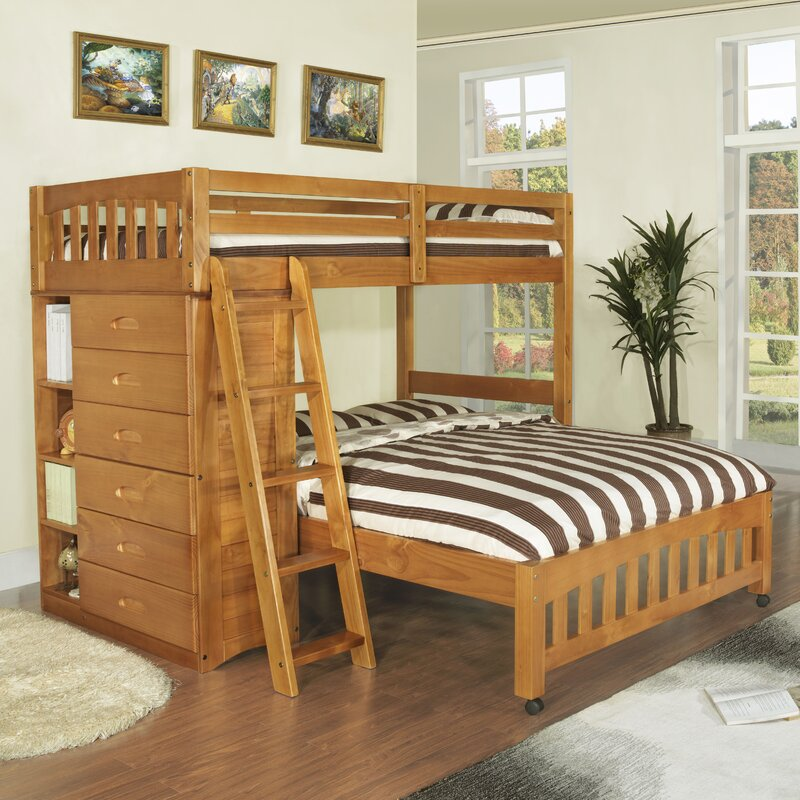 Kaitlyn L Shaped Twin Over Full Bunk Bed