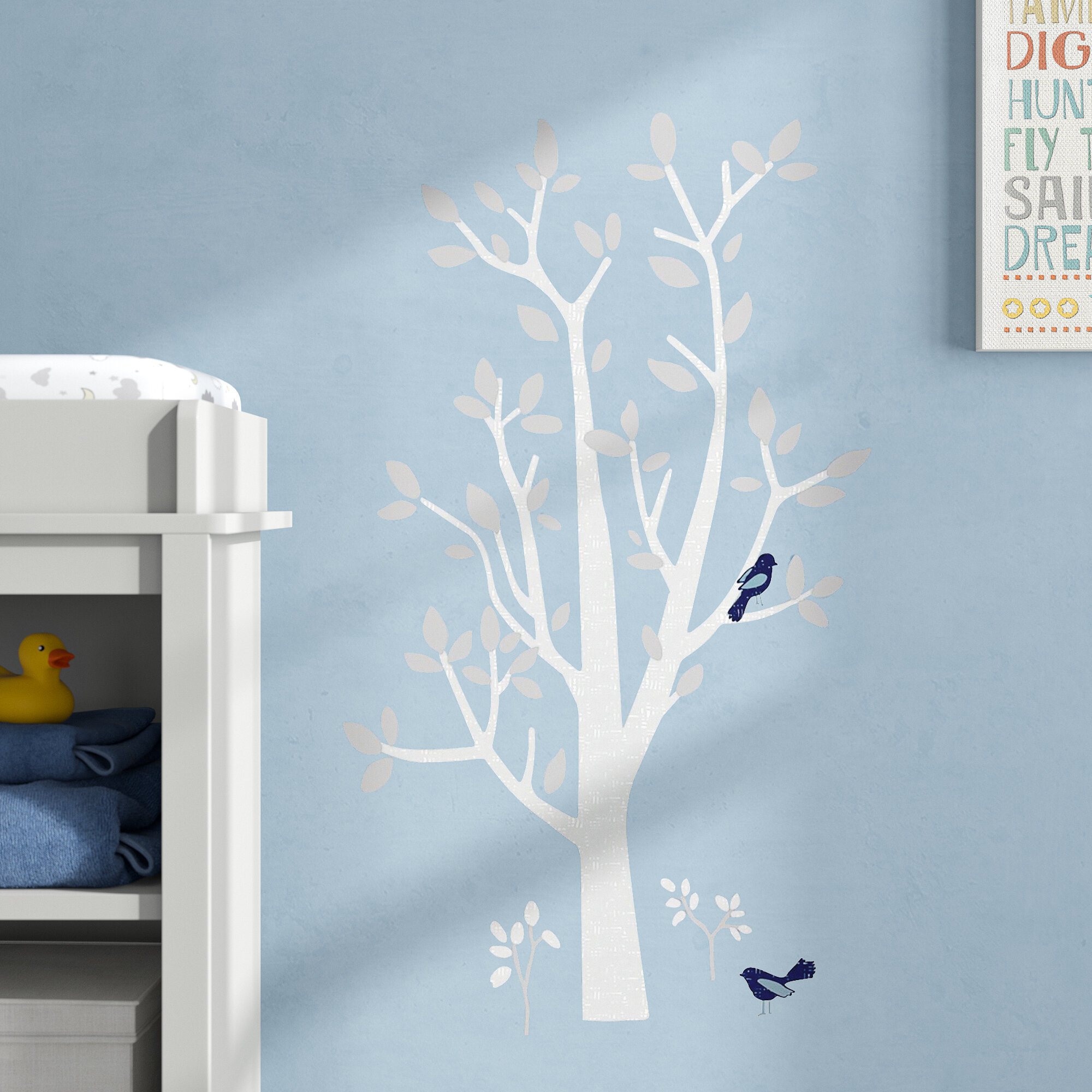 Greaves Woodland Tree L And Stick Giant Wall Decal
