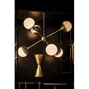 Noir Zoe 6-Light Chandelier