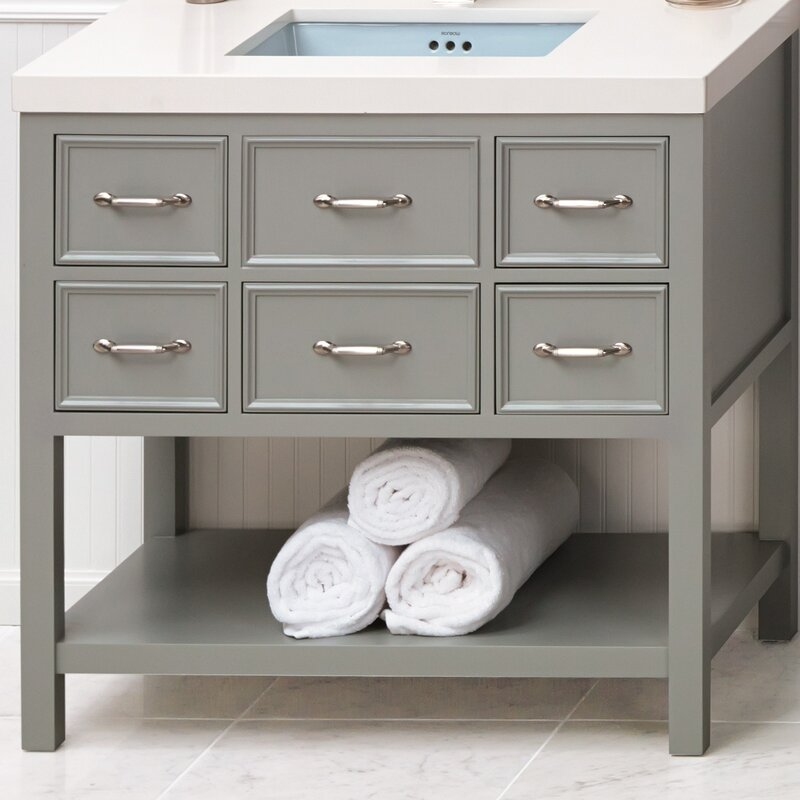 "Custom Bathroom Vanities Newcastle ronbow newcastle 36"" single bathroom vanity set 