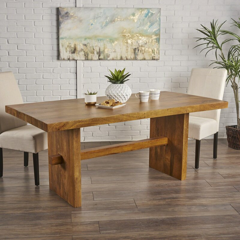 Foundry Select Burkhardt Mango Wood Dining Table Wayfair
