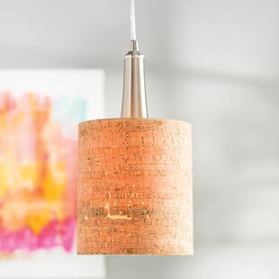 Bay Isle Home Mustin Cork 1-Light Cylinder Pendant