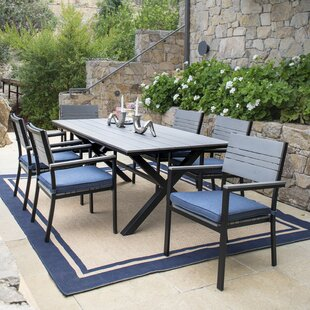 Mirabelle Patio 7 Piece Dining Set with Cushions