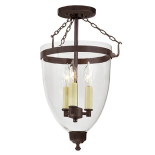 Danbury 3-Light Outdoor Semi Flush Mount By JVI Designs Outdoor Lighting