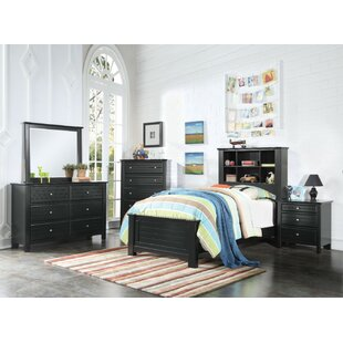 Haber Pine Wood Twin Panel Bed