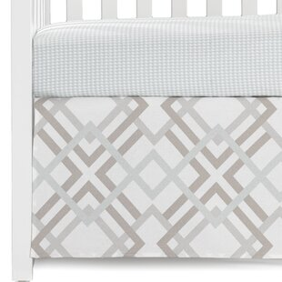Order Seafoam Houndstooth Fitted Crib Sheet By Liz and Roo Fine Baby Bedding