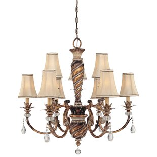 Astoria Grand Mcmillian 9-Light Shaded Chandelier