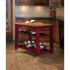 Good Metro Mobile Kitchen Island With Solid Walnut Top