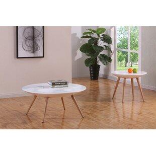 Brayden Studio Columbine Valley 2 Piece Coffee Table Set