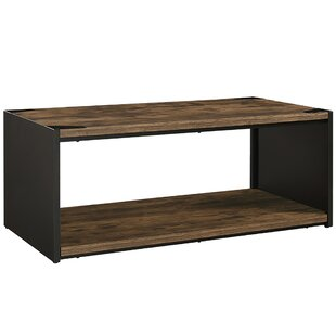 Best Price Comet Steel Plate and Wood Coffee Table By Union Rustic