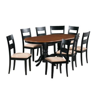 Dahlberg 9 Piece Extendable Solid Wood Dining Set