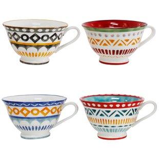 Amalfi 4 Piece Latte Cup Set