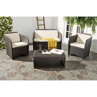Caprina 4 Piece Sofa Seating Group with Cushions