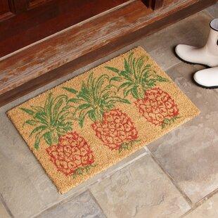 Trio Pineapple Rust Welcome Doormat by Birch Lane?