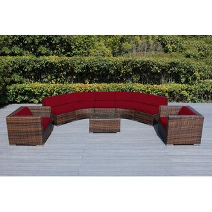 Baril Curved 8 Piece Sunbrella Sectional Set with Cushions by Wade Logan