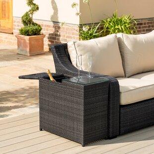 Etowah Ice Bucket Rattan Side Table By Sol 72 Outdoor