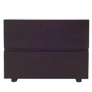 Carnevale Wenge 2 Drawer Nightstand by Latitude Run