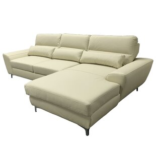 Warlo Leather Sleeper Sectional by Latitude Run 2019 Online