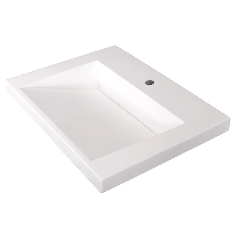 Marble Lite Ramp Bowl Vessel 25 Single Bathroom Vanity Top Reviews Wayfair