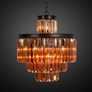 Cosimo 4-Tier 11-Light Crystal Chandelier..
