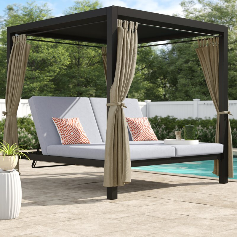 Aaron Patio Daybed with Cushion